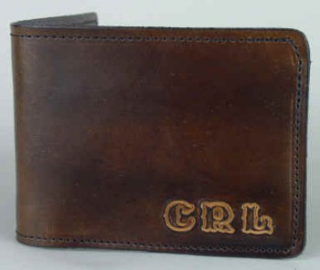Leather Wallet with Initials